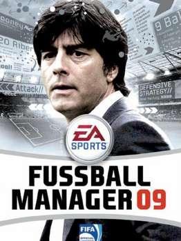 Das ist Joachim Löw, Bundestrainer der deutschen Nationalmannschaft auf dem Cover von dem Ea Sport Fifa Manager 09, Baby.